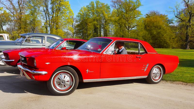 American Vintage Classic Car, Ford Mustang royalty free stock photography