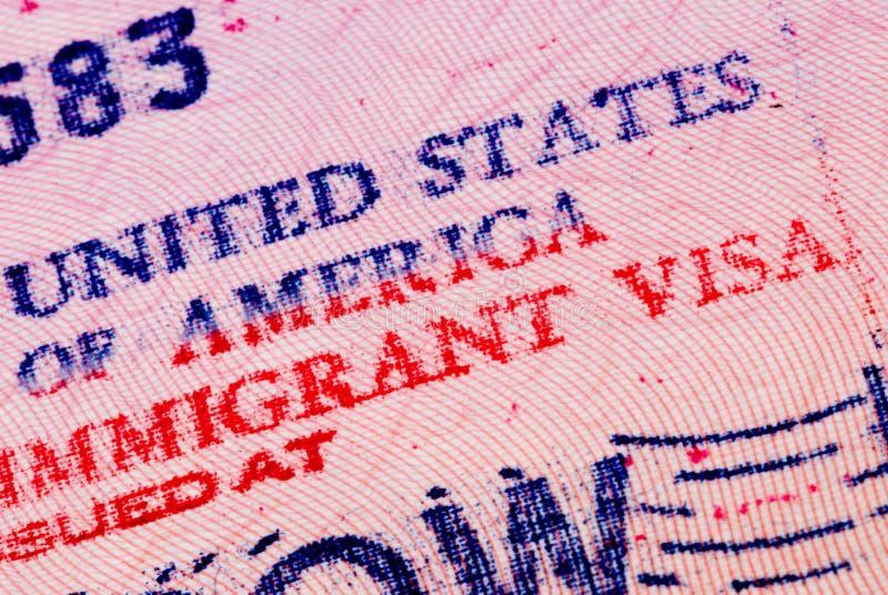 American visa royalty free stock photography