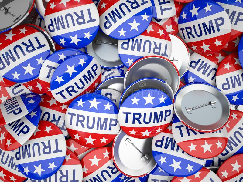 American vote buttons. USA Election 2020 stock images