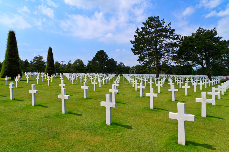 Download American War Cemetery stock image. Image of grave, france - 21633541