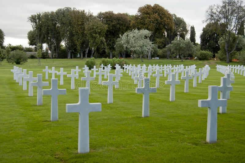 Download American War Cemetery In Nettuno Stock Image - Image: 25642925