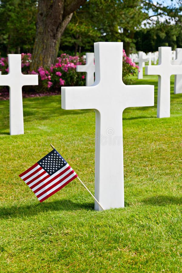 Download American War Cemetery At Omaha Stock Image - Image: 26846483