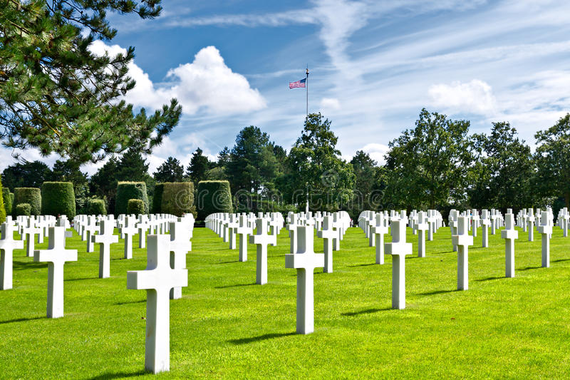 Download American War Cemetery At Omaha Stock Image - Image of mer, stone: 27367731