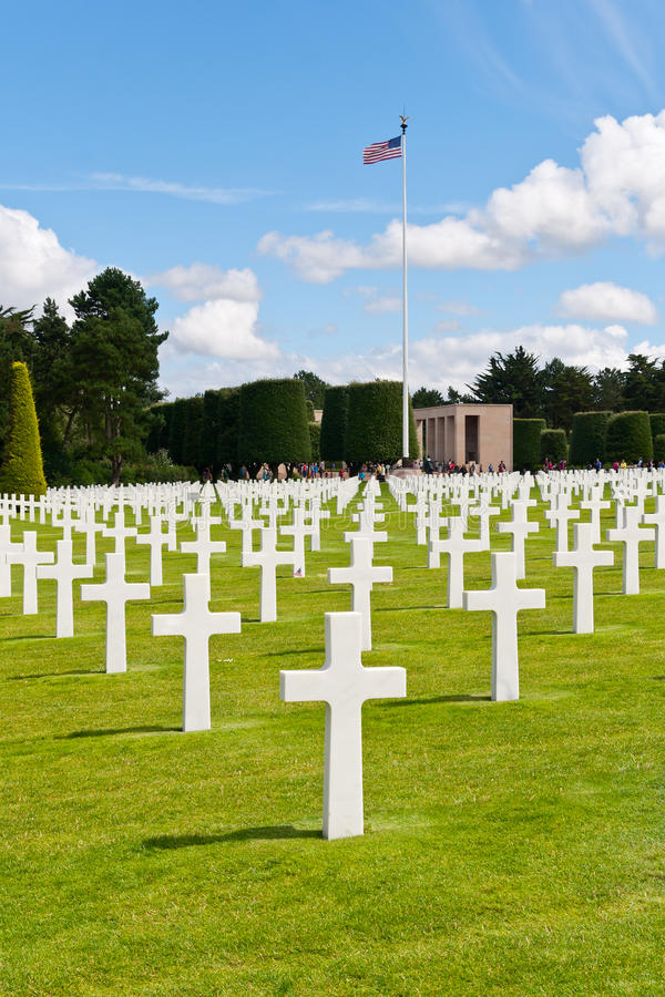 Download American War Cemetery At Omaha Beach Stock Photo - Image of omaha, colleville: 26677012
