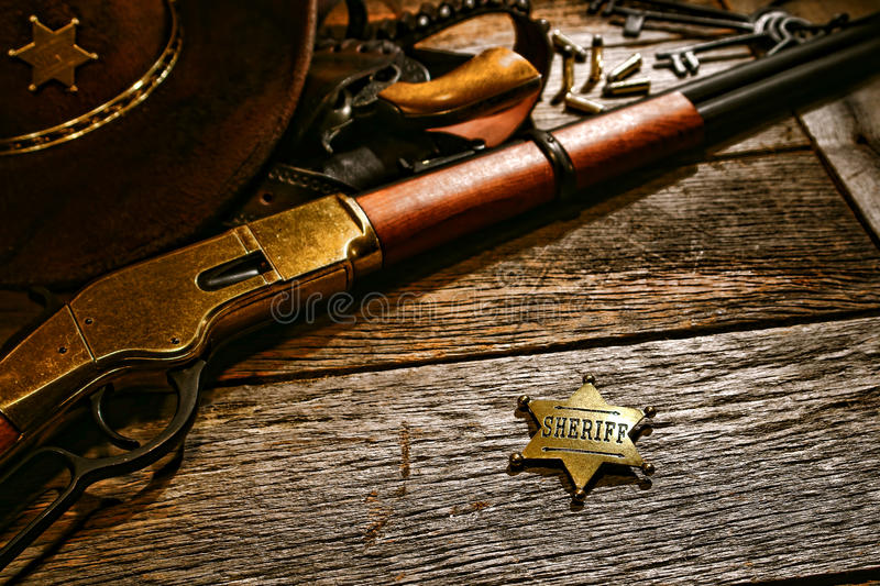 Download American West Legend Old Sheriff Lawman Star Badge Stock Image - Image: 31530693
