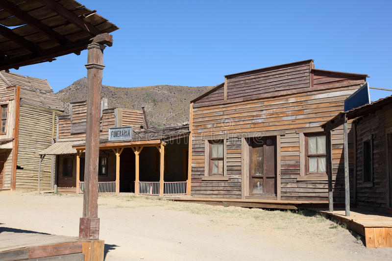 American western style town royalty free stock photography