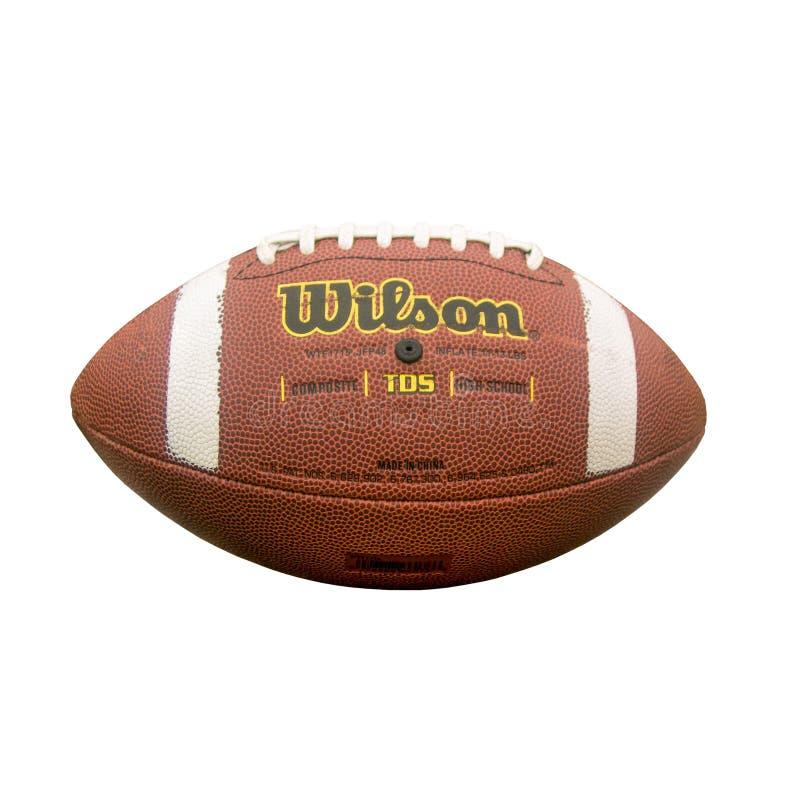 American Wilson fotbollsmatch isolerad på vit bakgrund fotografering för bildbyråer