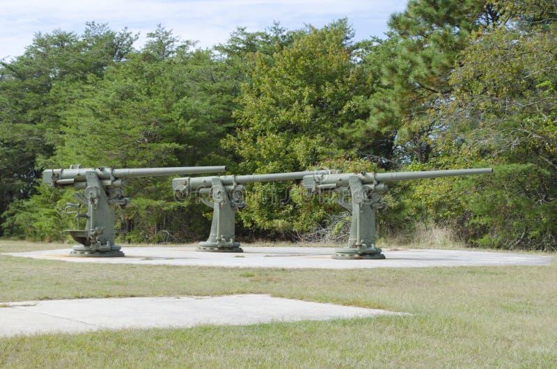 American World War Two Guns stock photo