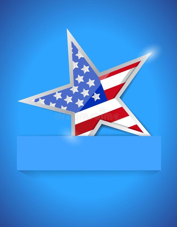 Americana gwiazdowy ilustracyjny projekt ilustracja wektor