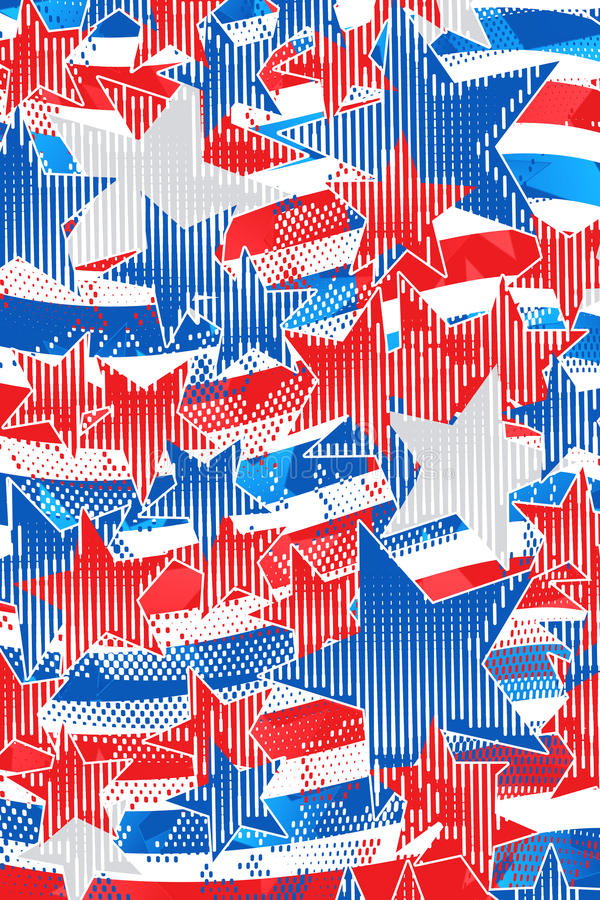 Americana modern kunstwerk royalty-vrije illustratie