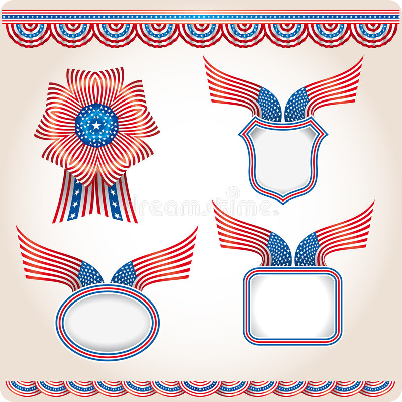 Americana - Set 2 vektor abbildung