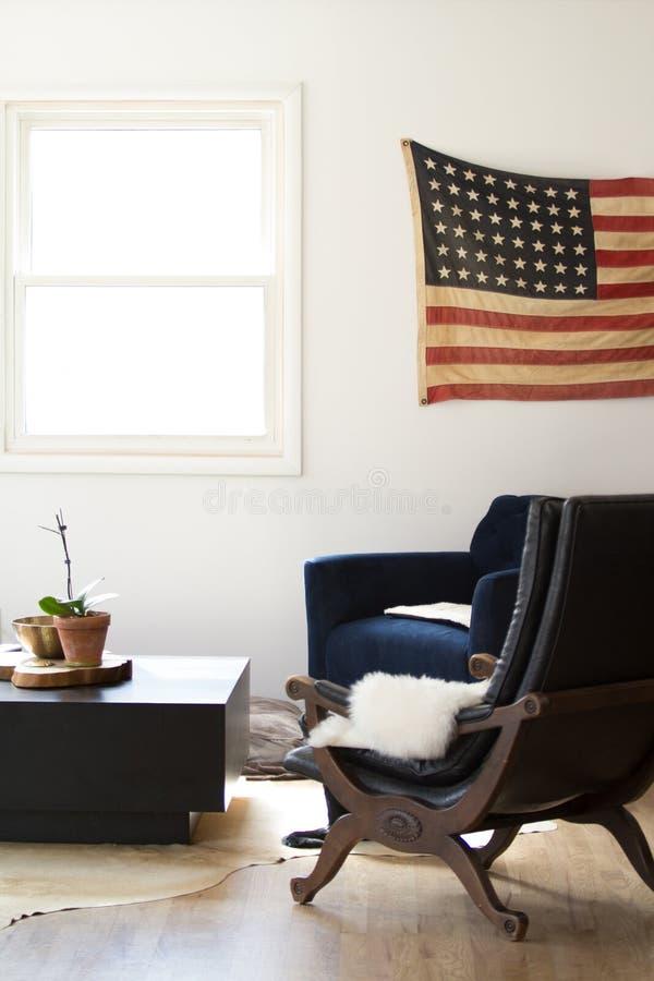 Americana Woonkamer stock afbeelding