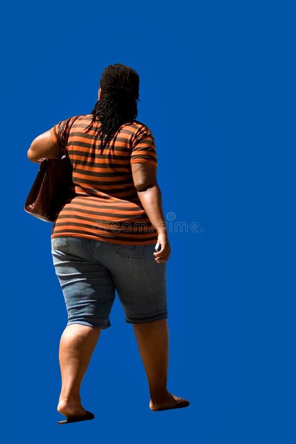 Americano africano do excesso de peso fotografia de stock royalty free