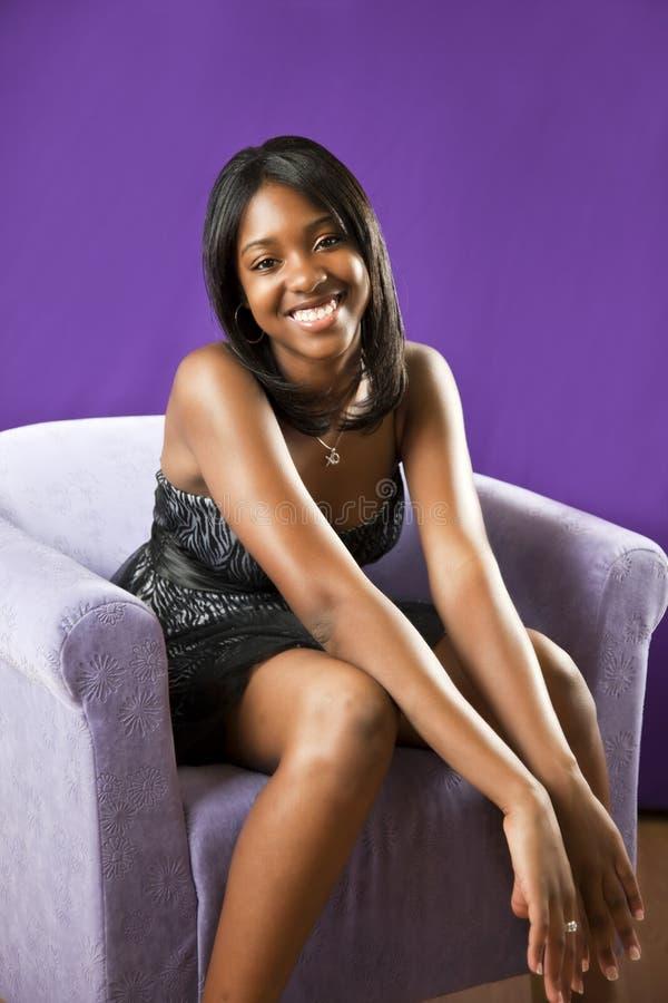 Americano africano ocasional adolescente fotografia de stock royalty free