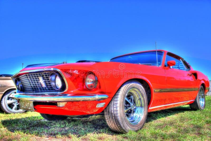 Americano clásico Ford Mustang de los años 70 imagen de archivo