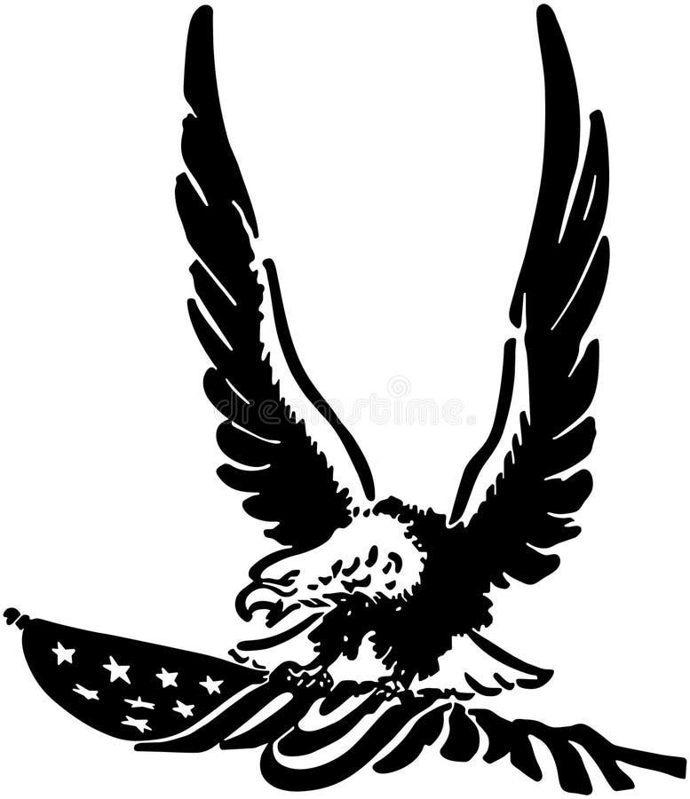 Americano desafiante Eagle ilustração royalty free