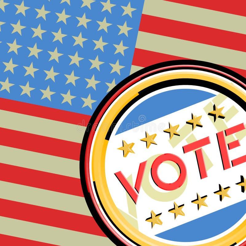 Americano di voto illustrazione vettoriale