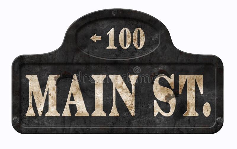 Americano Disney do sinal do vintage de Main Street EUA imagem de stock royalty free