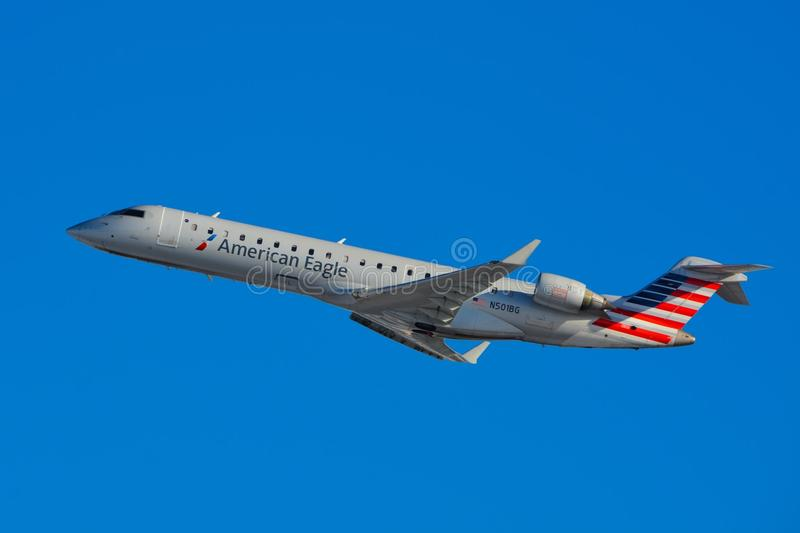 Americano Eagle Airlines imagen de archivo libre de regalías