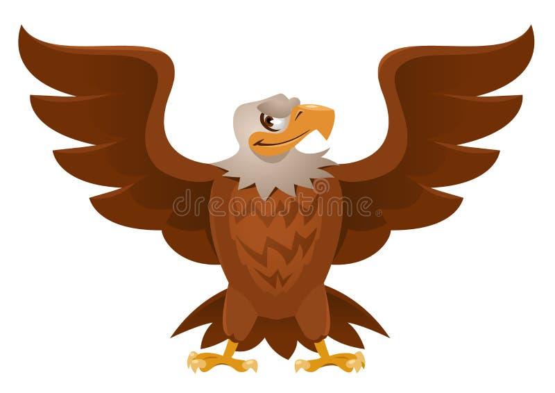 Americano Eagle com as asas abertas da propagação ilustração stock
