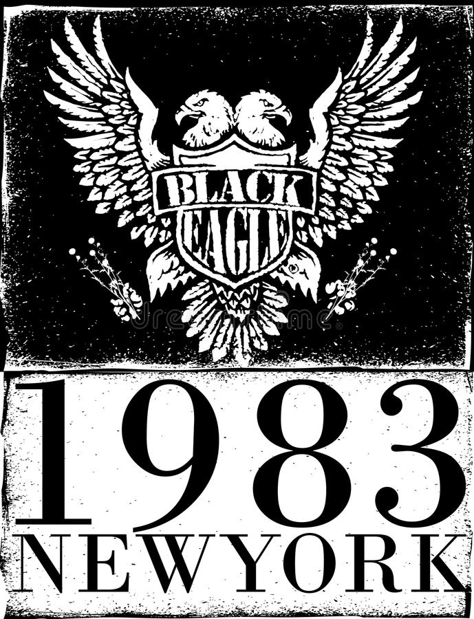 Americano Eagle Linework Vetora ilustração do vetor