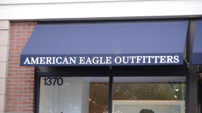 Americano Eagle Outfitters Storefront imagem de stock royalty free