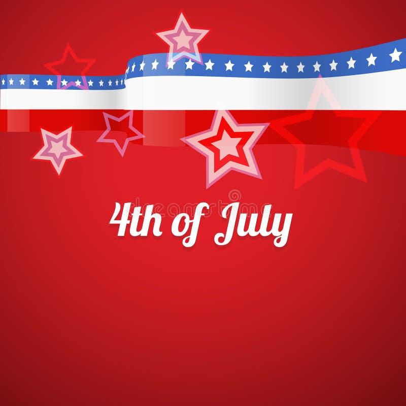 Download Americano el 4 de julio ilustración del vector. Ilustración de ilustración - 41919236