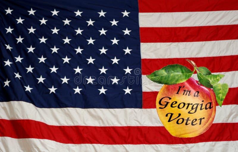 Americano Georgia Voter fotografía de archivo libre de regalías