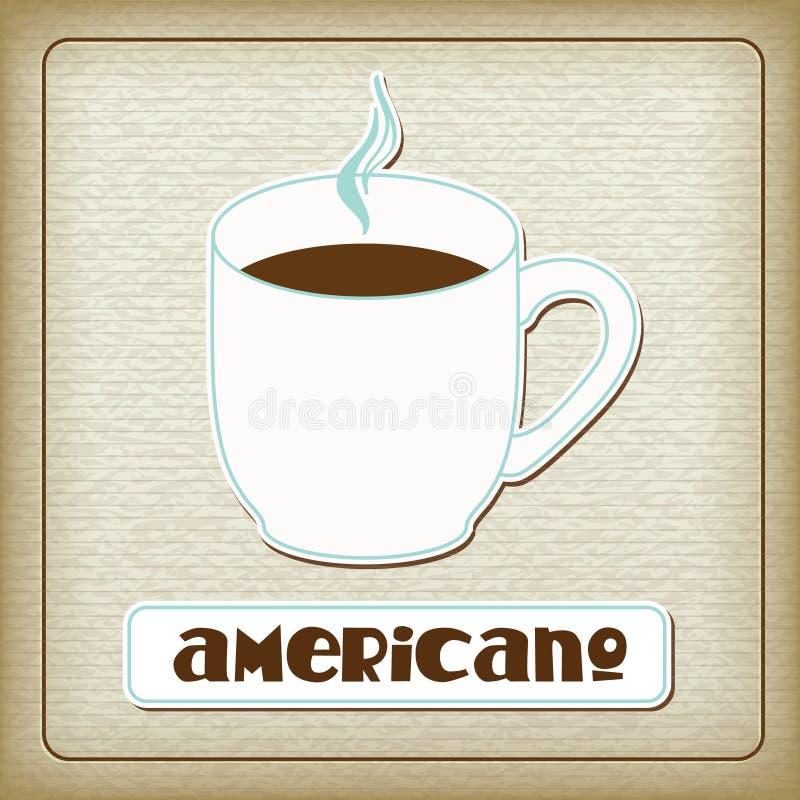 americano kartonowej filiżanki gorący stary ilustracja wektor