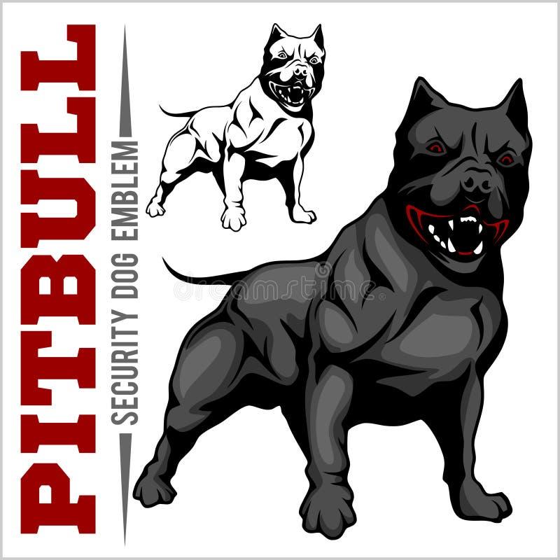 Americano Pit Bull Terrier, Pitbull libre illustration
