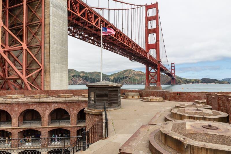 Americano Pride Golden Gate Bridge fotos de stock