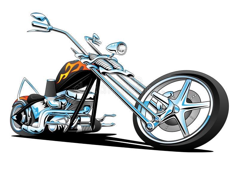 Americano su ordinazione Chopper Motorcycle, colore illustrazione di stock
