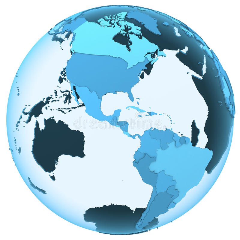 Americas på genomskinlig jord vektor illustrationer