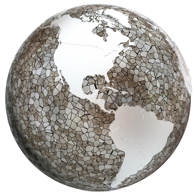 Americas på genomskinlig jord stock illustrationer