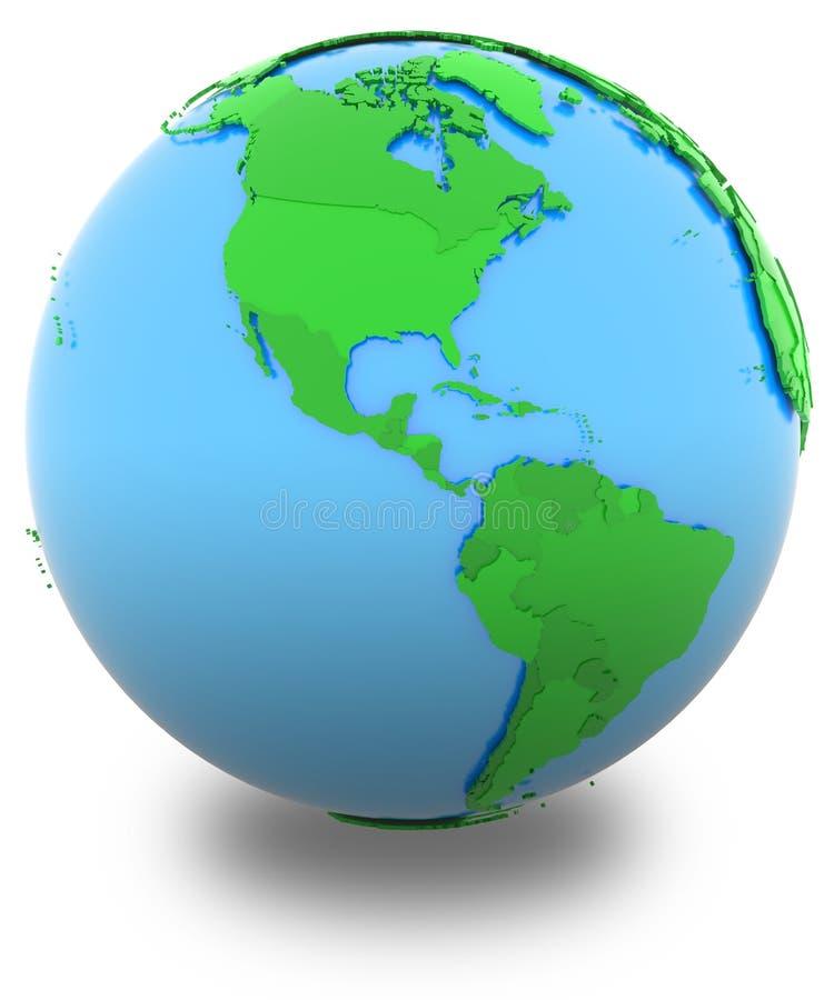 Americas på jord stock illustrationer