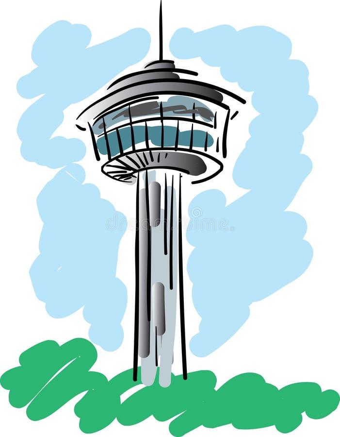 americas wieży ilustracja wektor
