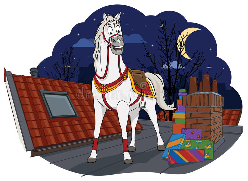 Download Amerigo, το άλογο Sinterklaas Διανυσματική απεικόνιση - εικονογραφία από netherlands, άγιος: 62700751