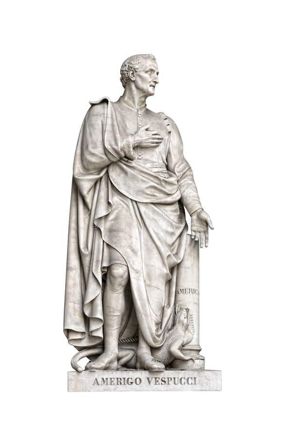 Amerigo Vespucci Statue royalty free stock photography