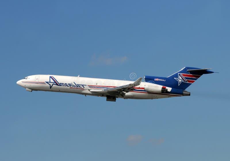 Amerijet Boeing 727 ladingsvliegtuig royalty-vrije stock fotografie