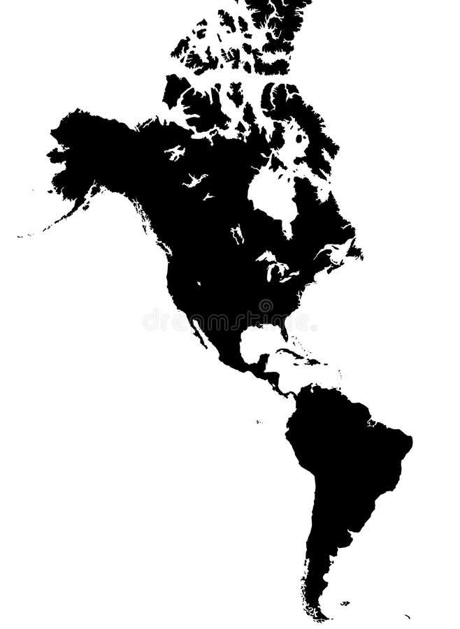 Amerika översikt vektor illustrationer