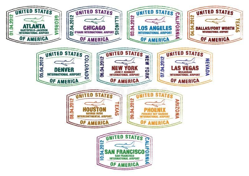 Amerika royalty-vrije illustratie