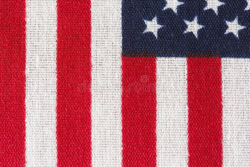 Amerika, amerikanska flaggan, stjärnor och band stänger sig upp royaltyfria bilder