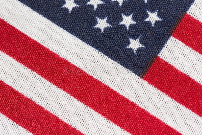 Amerika, amerikanska flaggan, stjärnor och band stänger sig upp royaltyfri foto