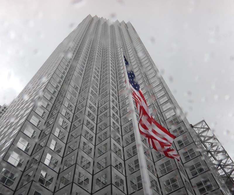 Amerika bouwt sterke genoeg gebouwen stock afbeeldingen