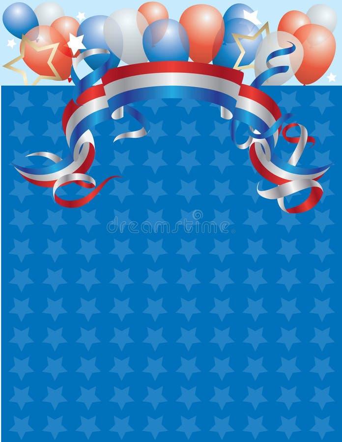 Amerika födelsedag royaltyfri illustrationer