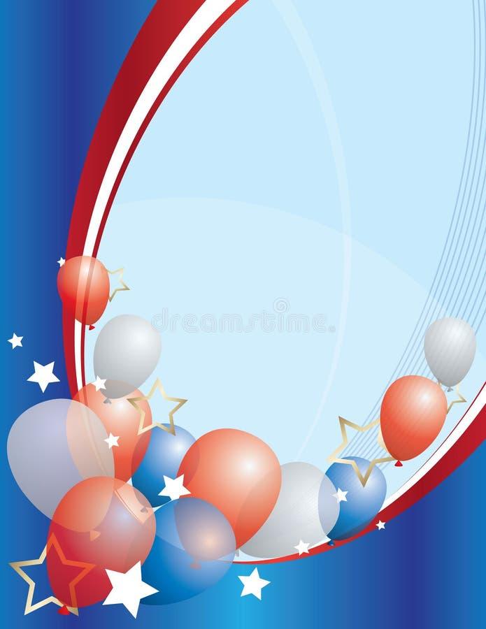 Amerika födelsedag stock illustrationer