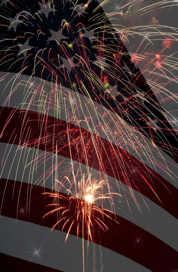 Amerika fira komposit arkivbilder