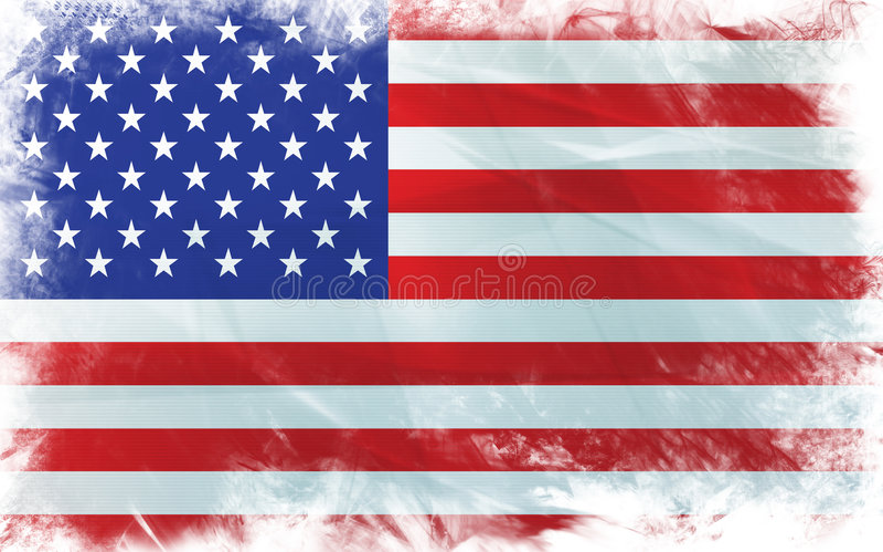 Amerika flagga stock illustrationer