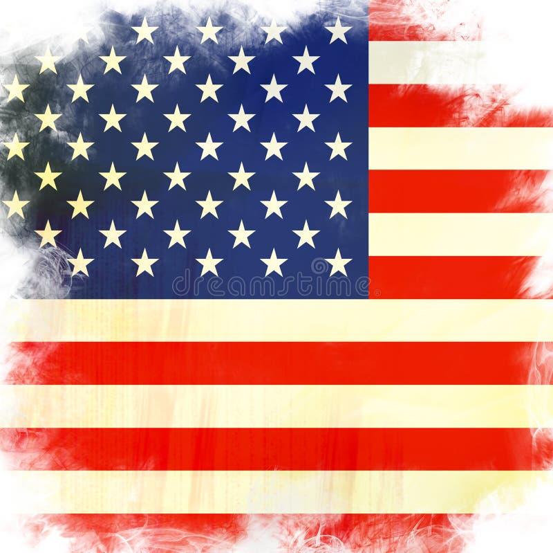 Amerika flagga royaltyfri illustrationer