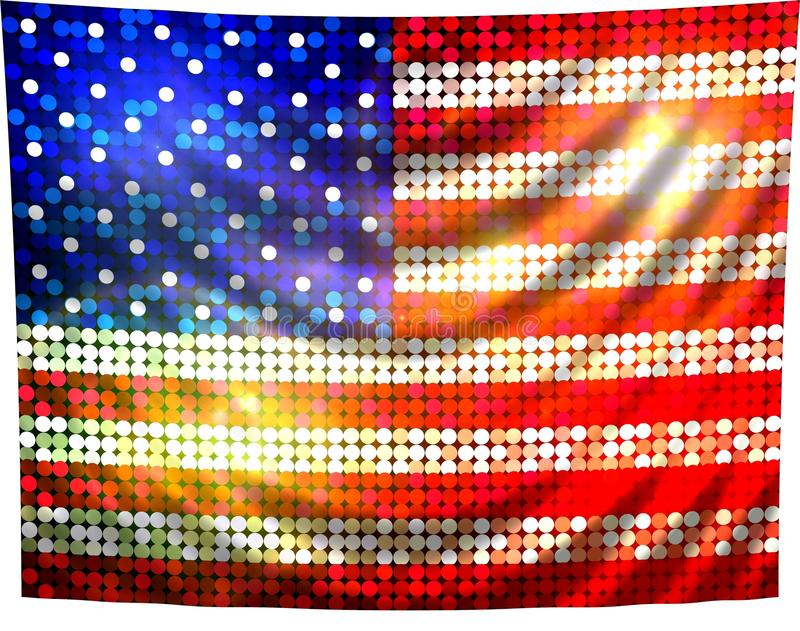 Amerika flagga som sparkling royaltyfri illustrationer